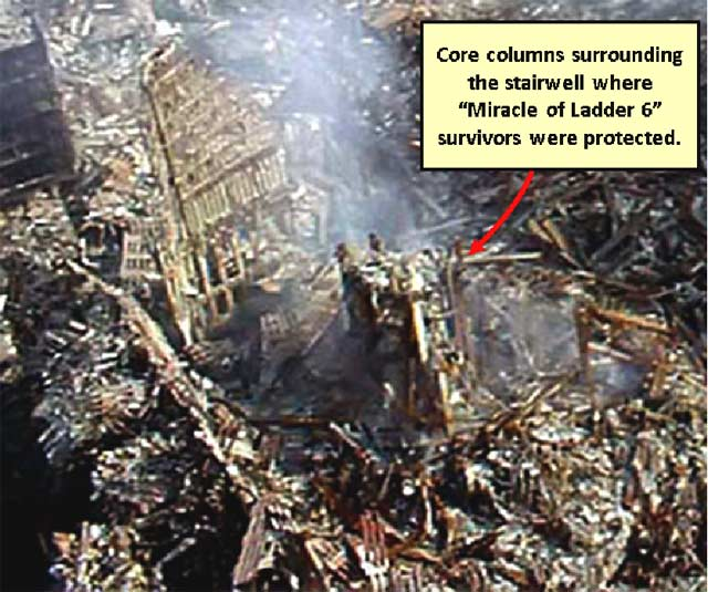 Stairway B Wtc North Tower : Destruction of the twin towers