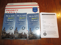 9/11 TAP brochures, petition forms and envelope