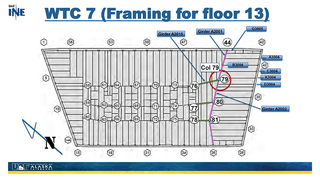 Slide 9: WTC7 (Framing for floor 13)