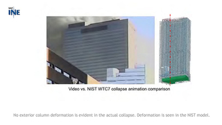 Slide 23: Comparison of NIST progressive collapse model vs. actual video