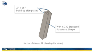 Slide 30: Section of Column 79 (showing side plates)