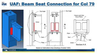 Slide 55: UAF's beam seat connection for column 79