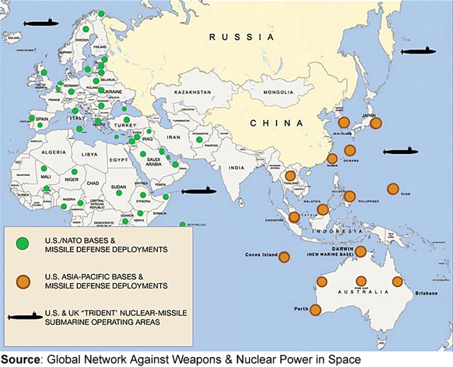 911 And The Expansion Of Us Foreign Military Bases - Map-us-military-bases