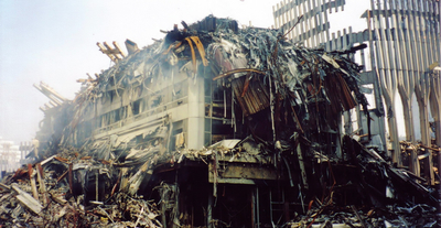 Marriott Remains of WTC1 and WTC2 after 9 11 6f3f4 sm