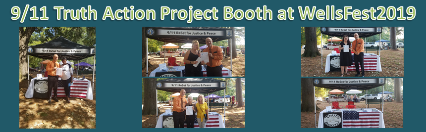 Recounting a 9/11 Truth Action Project outreach event at WellsFest 2019 in Jackson, MS.