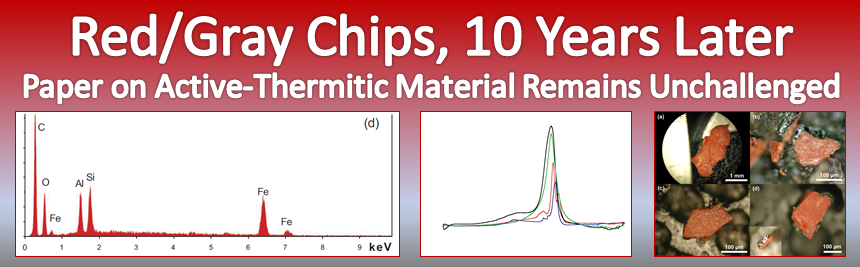 Red/Gray Chips, 10 Years Later – Paper on Active-Thermitic Material Remains Unchallenged