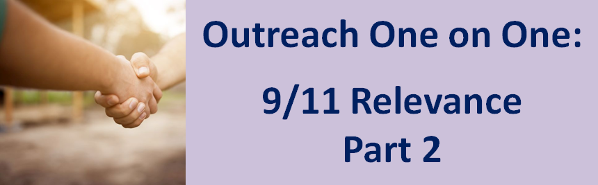 Observations, insights, and methods for direct face-to-face 9/11 outreach with the public…