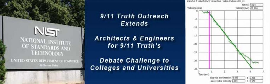 9/11 Truth Outreach Extends Architects & Engineers for 9/11 Truth's Debate Challenge to Colleges and Universities
