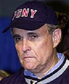 rudy guiliani fdny cap