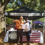 9/11 Truth Action Project Booth at WellsFest2019