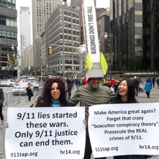 911TAP Activists Show Presence in High Profile Marches