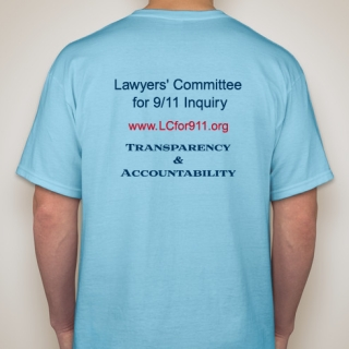 Tee Shirt Supports the 'Lawyers' Committee for 9/11 Inquiry'